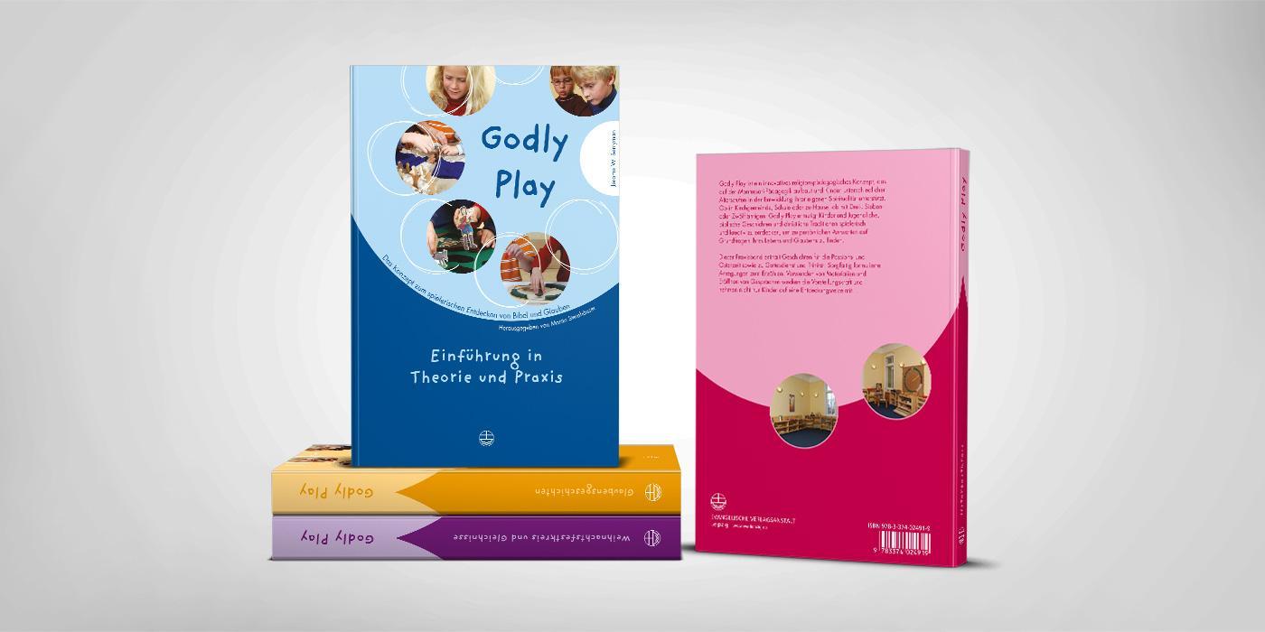 Bücher der Reihe Godly Play Umschlagsgestaltung
