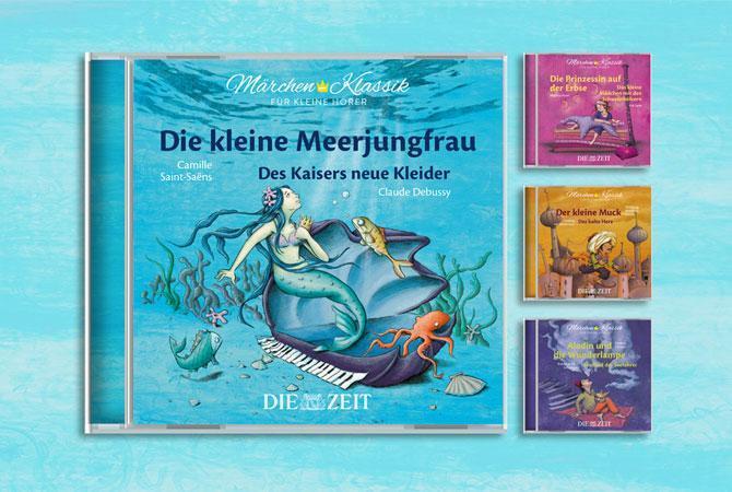 vier Jewel Cases Märchen-Klassik für kleine Hörer