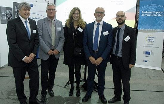 deutsch-italienische Delegation beim 18. Italien Stammtisch in Leipzig