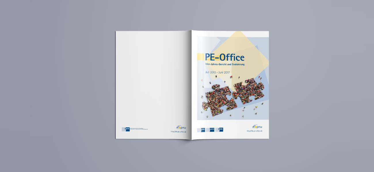 Umschlag zum Geschäftsbericht PE-Office