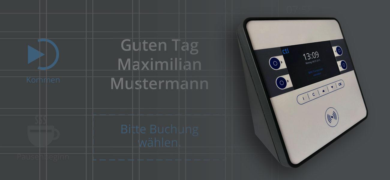 Interface Design Zeiterfassungsgerät CTI mit Bedienfolie