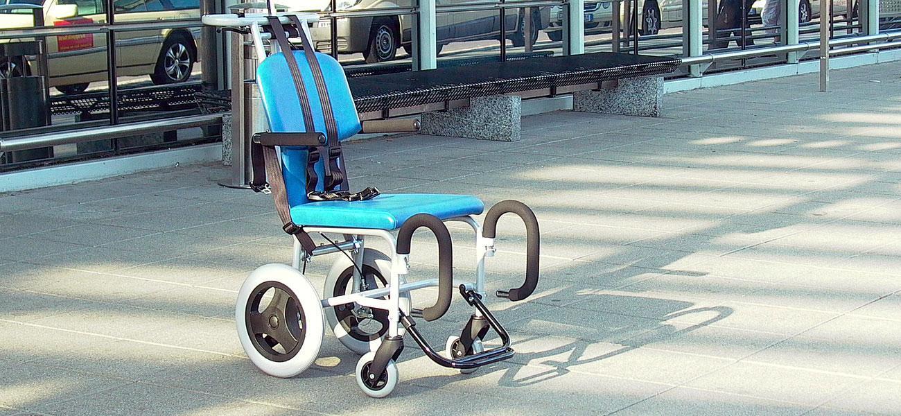 Industriedesign Rollstuhl für Flughafen